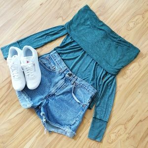 Free People | Cosmo Cowl Green Top